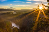 Beautiful Image of Mt. Hood taken during sunrise from Jonsrud view point in Sandy, Oregon, USA.
