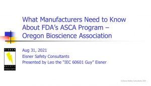thumbnail of What Mfrs Need to Know About FDA's ASCA Program FDA-ESC-OBA Final 31Aug2021